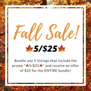 Other - 🍁5/$25🍁 SALE!